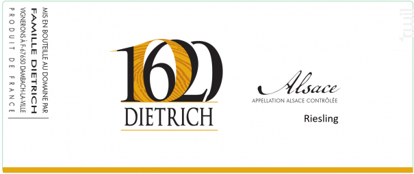Riesling - Famille Dietrich - 2016 - Blanc