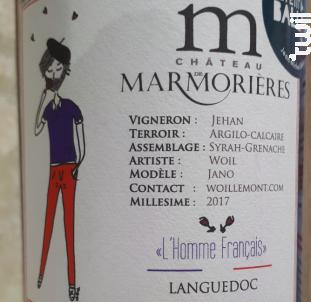L'Homme Français - Château de Marmorières - 2017 - Rouge
