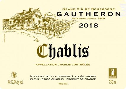 Chablis - Domaine Gautheron Alain et Cyril - 2019 - Blanc