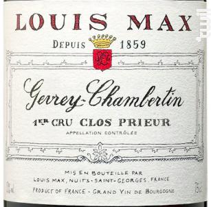 Gevrey-Chambertin 1er Cru Clos Prieur - Louis Max - 2014 - Rouge