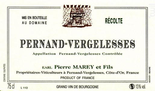 Pernand-Vergelesses - Domaine Marey et Fils - 2014 - Blanc