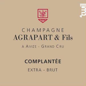Complantée Extra Brut Grand Cru - Champagne Agrapart et Fils - Non millésimé - Effervescent
