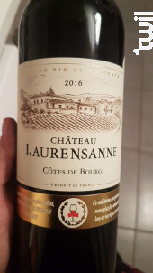 chateau laurensanne - Château Laurensanne - 2016 - Rouge