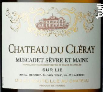 Muscadet Château du Cléray - SAUVION - CHATEAU DU CLERAY - 2017 - Blanc