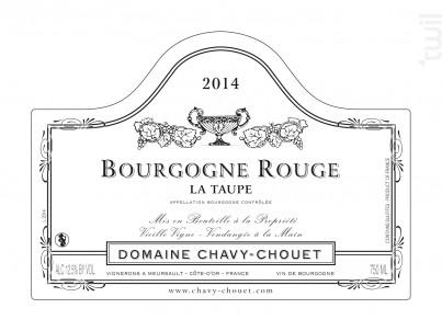 Bourgogne Rouge La Taupe - Domaine Chavy-Chouet - 2017 - Rouge
