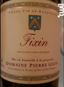 Fixin - Domaine Pierre Gelin - 2014 - Rouge