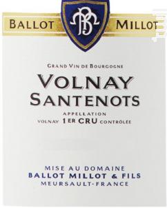 Volnay Premier Cru Santenots - Domaine Ballot-Millot - 2017 - Rouge