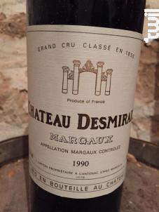 Château Desmirail - Denis Lurton - Château DESMIRAIL - 1990 - Rouge