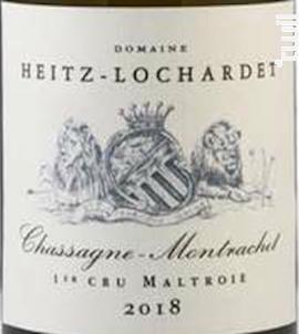 Chassagne Montrachet Premier Cru La Maltroie - Armand Heitz - 2018 - Blanc