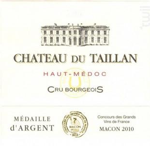 Château Du Taillan Cru Bourgeois - Château Du Taillan - 2010 - Rouge