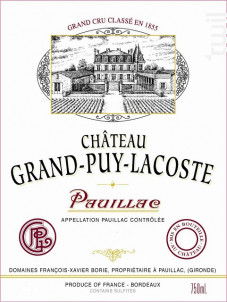 Château Grand-Puy-Lacoste - Château Grand-Puy-Lacoste - 2009 - Rouge