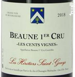 Beaune 1er cru Les Cents Vignes - Les Héritiers Saint-Genys - 2018 - Rouge