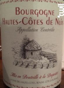 Bourgogne Hautes-Côtes de Nuits - Vignerons Associés - Nuiton-Beaunoy - Non millésimé - Rouge