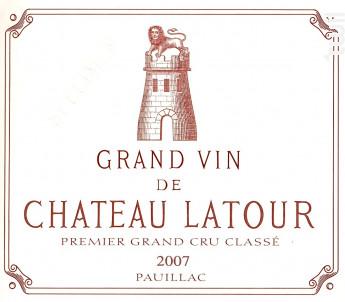 Château Latour - Château Latour - 2007 - Rouge
