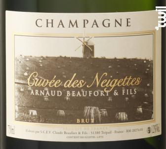 Cuvée des Neigettes Brut - Champagne Arnaud Beaufort - Non millésimé - Effervescent