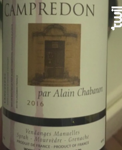 Campredon - Domaine Alain Chabanon - 2016 - Rouge