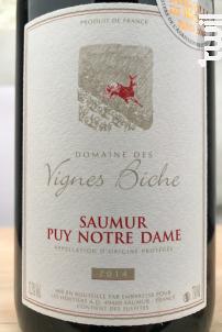 Saumur Puy Notre Dame - Domaine des Vignes Biche - 2014 - Rouge