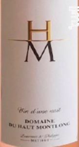 Cuvée Vin d'une Nuit. - Domaine Haut Montlong - 2018 - Rosé