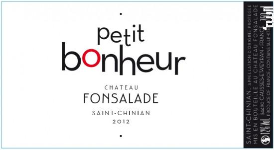 Petit Bonheur - Château Fonsalade - 2018 - Rouge