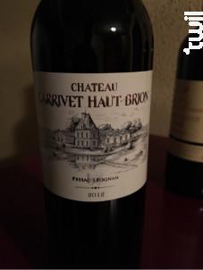 Château Larrivet Haut-Brion - Château Larrivet Haut-Brion - 2012 - Blanc