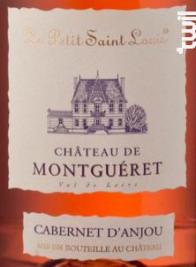 PETIT SAINT LOUIS Cabernet d'Anjou - Château de Montguéret - 2018 - Rosé