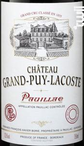 Château Grand-Puy-Lacoste - Château Grand-Puy-Lacoste - 2018 - Rouge