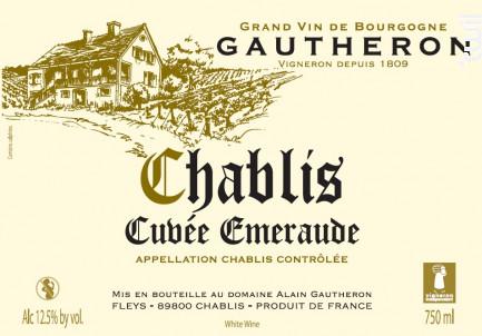 Cuvée Emeraude - Domaine Gautheron Alain et Cyril - 2017 - Blanc