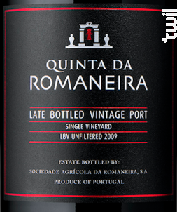 Unfiltered lbv - QUINTA DA ROMANEIRA - 2012 - Rouge