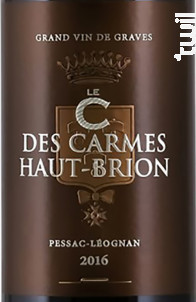 C des Carmes - Château Les Carmes Haut-Brion - 2016 - Rouge