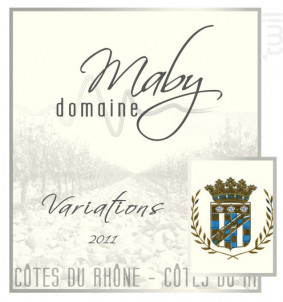 Variations - Domaine Maby - 2016 - Blanc