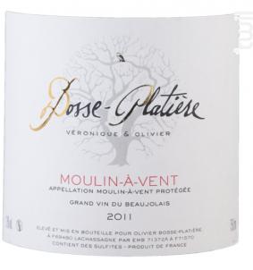 Moulin à Vent - Véronique & Olivier Bosse-Platière - 2014 - Rouge
