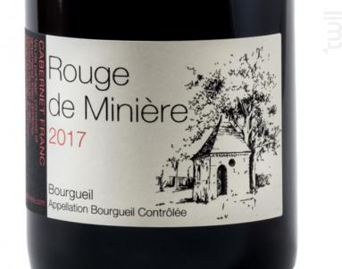 Rouge de Minière - Château de Minière - 2017 - Rouge