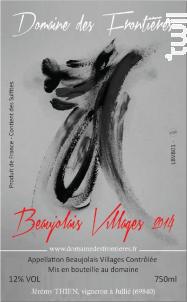 Beaujolais Villages - Domaine des Frontières - 2016 - Rouge