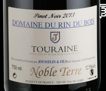 Noble Terre - Domaine du Rin du Bois - 2014 - Rouge