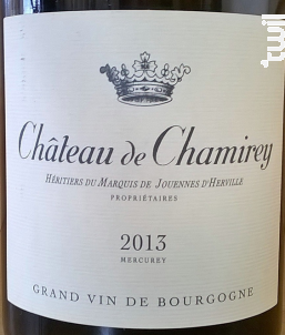 Mercurey - Château de Chamirey - 2017 - Rouge