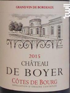 Château de Boyer - Vignobles Boyer - 2015 - Rouge