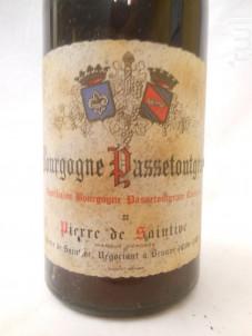 Bourgogne Passetoutgrain - Domaine Pierre de Saintive - 1976 - Rouge