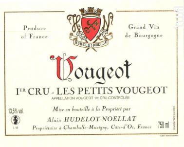 Vougeot Premier Cru Les Petits Vougeot - Domaine Hudelot-Noëllat - 2016 - Rouge