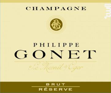 Réserve Brut - Champagne Philippe GONET - Non millésimé - Effervescent