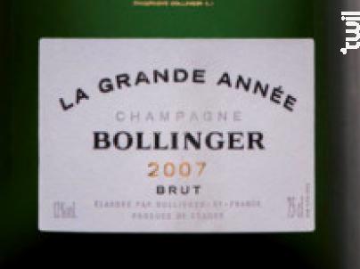 Bollinger Grande Année - Champagne Bollinger - 2007 - Effervescent