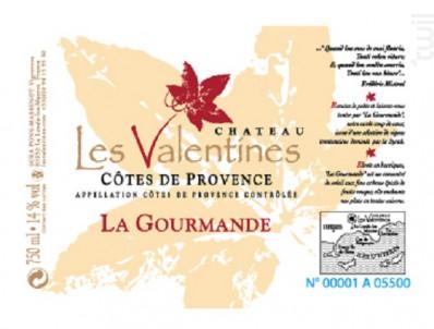 La Gourmande - Château les Valentines - 2014 - Rouge