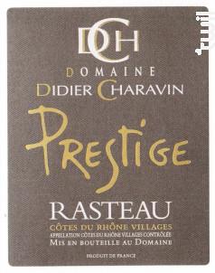 Cuvée Prestige - Domaine Didier Charavin - 2016 - Rouge