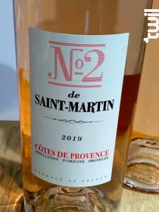 Le N°2 de Saint Martin - Château de Saint-Martin - 2019 - Rosé