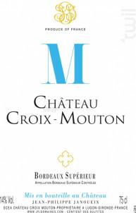Château CROIX MOUTON - Château Croix-Mouton - 2018 - Rouge