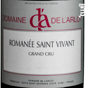 Romanée Saint Vivant Grand Cru - Domaine de l'Arlot - 2017 - Rouge