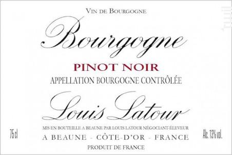Bourgogne Pinot Noir - Maison Louis Latour - 2016 - Rouge