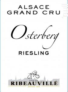 Riesling Grand Cru Osterberg - Cave de Ribeauvillé - 2017 - Blanc