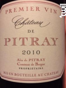 Château de Pitray - Château de Pitray - 2014 - Rouge