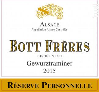 Gewurztraminer Réserve Personnelle - DOMAINE BOTT FRERES - 2016 - Blanc