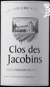 Clos des Jacobins - Clos des Jacobins - 2011 - Rouge